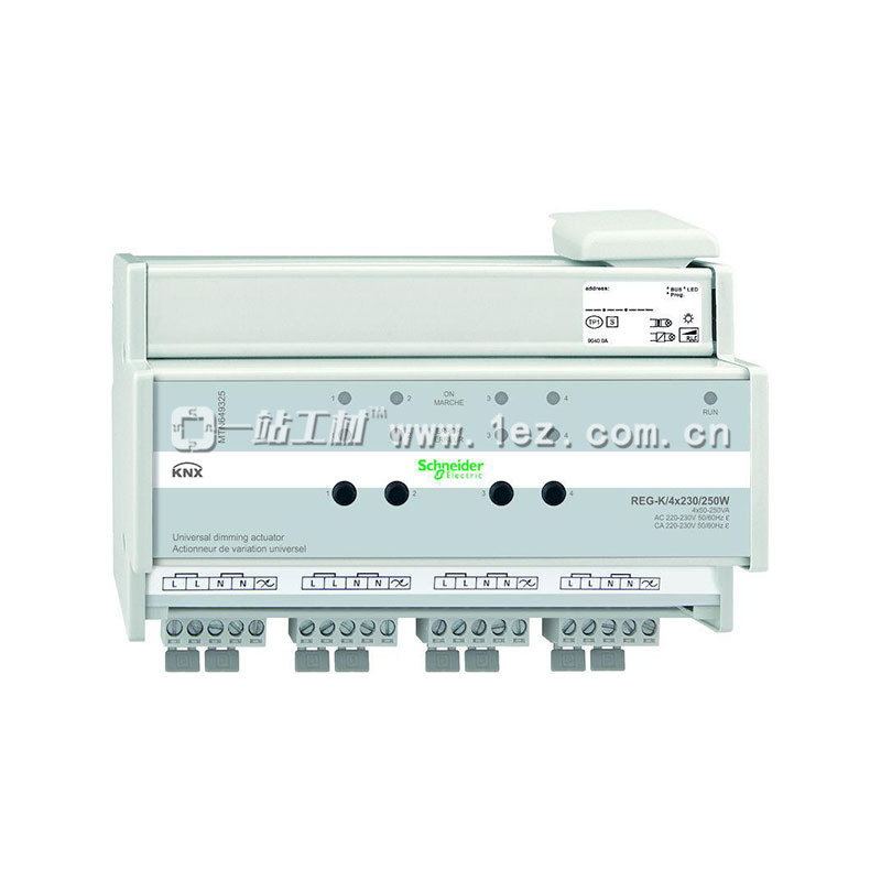 电工电料 电气系列 施耐德(莫顿)mtn649325 4路250w通用调光模块(通